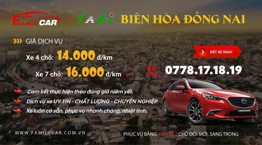 Taxi Biên Hòa giá rẻ