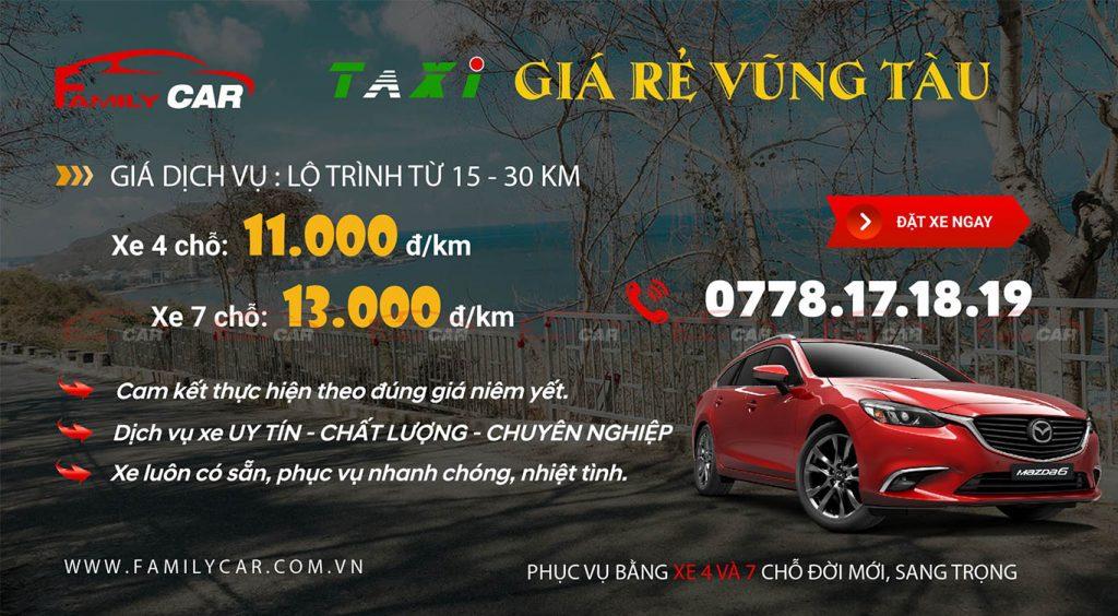 Dịch vụ taxi giá rẻ Vũng Tàu