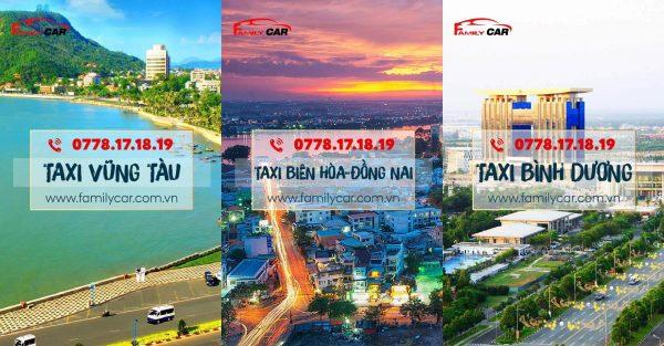 khu vực hoạt động taxi familycar