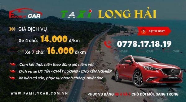 Bảng Giá Taxi Long Hải
