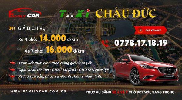 Bảng Giá Dịch Vụ Taxi Châu Đức