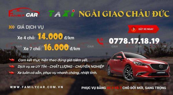 Bảng Giá Taxi Ngãi Giao Châu Đức