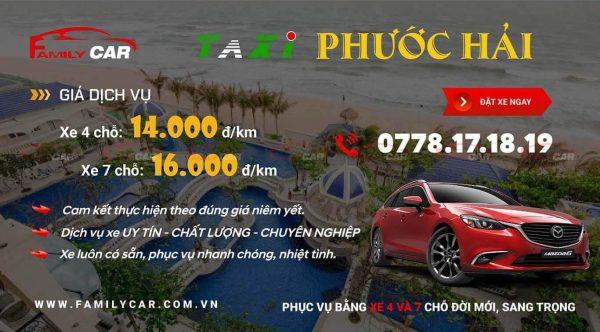 Bảng Giá Taxi Phước Hải