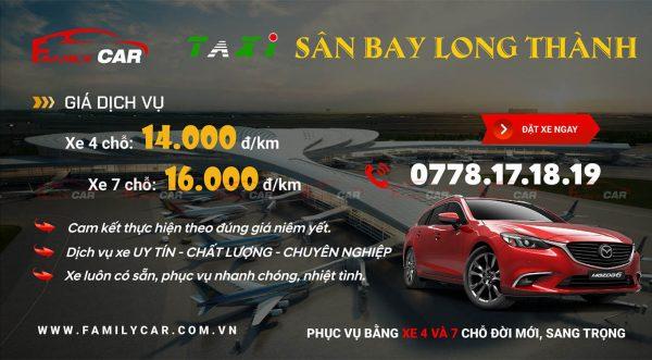 Bảng Giá Taxi Sân Bay Long Thành
