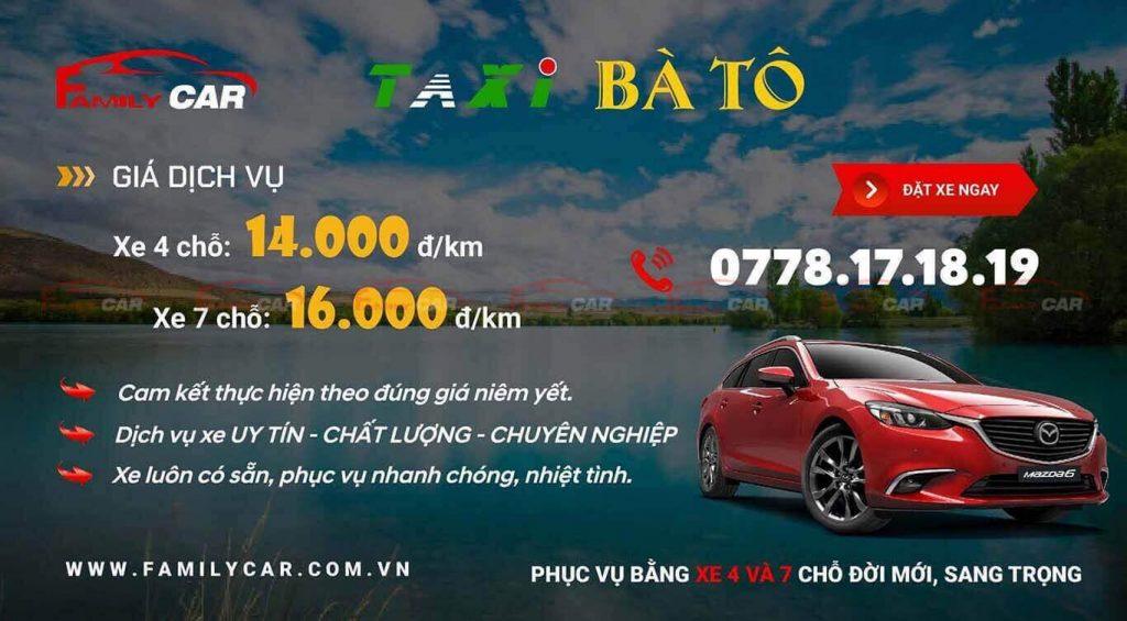 Bảng Giá Taxi Xuyên Mộc Bà Rịa