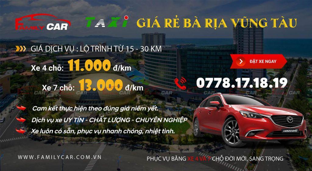 Dịch vụ taxi giá rẻ Bà Rịa Vũng Tàu